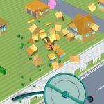 CrazyCaddy(クレイジーキャディー)は50'sアメリカンスタイルの車で町を破壊しまくる3Dカーアクションゲーム
