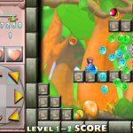「爆裂すらいむ」の感想/評価 「すらいむ」を投げて足場にしたり爆発させたりする「すらいむ」活用アクションゲーム