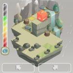 「Switch Sides」は、キューブ上の動物たちを操作してゴールを目指すミニゲーム