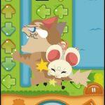 「みちびきパズル〜にげネズミといじわるネコ〜」は、素早い判断力で猫からネズミを逃がす、アクションと融合したパズルゲーム